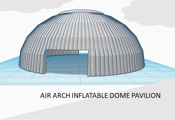 Air Arch Inflatable Dome Pavilion