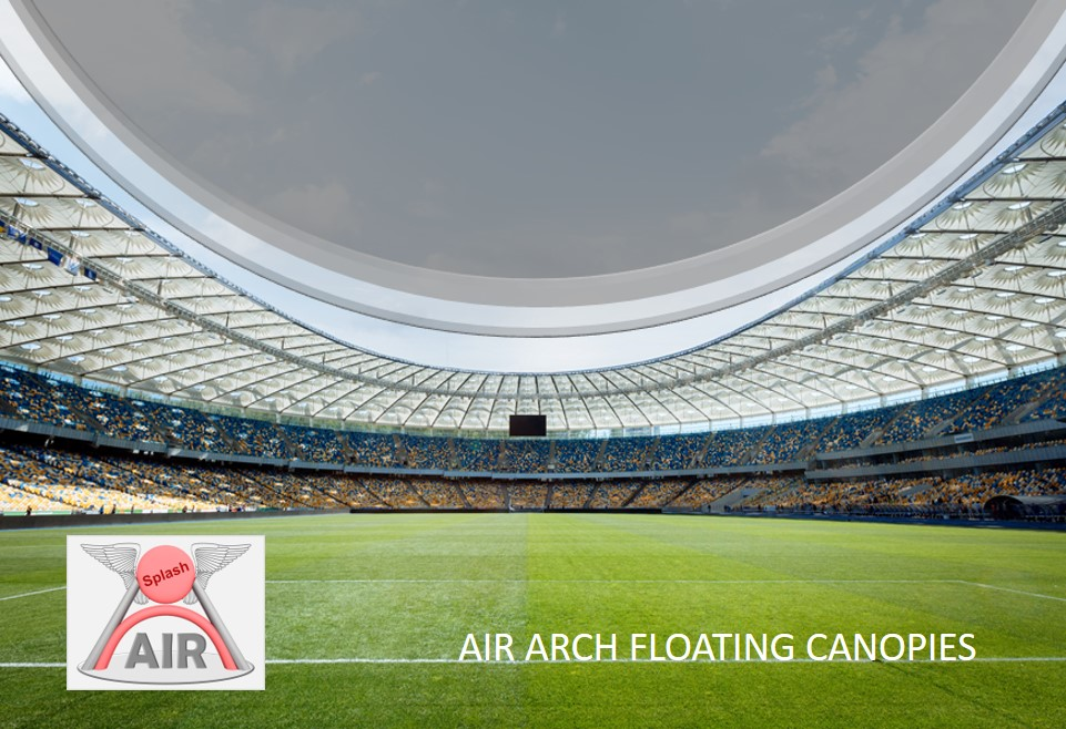 Air Arch Inflatable Roof (floating)